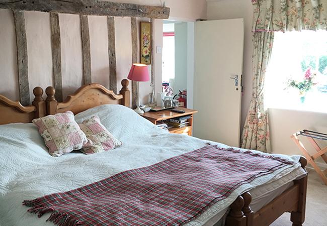 One of the B&B rooms at Higher Biddacott Farm.