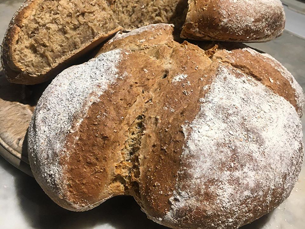 Delicious bread made at Higher Biddacott Farm with their own flour.