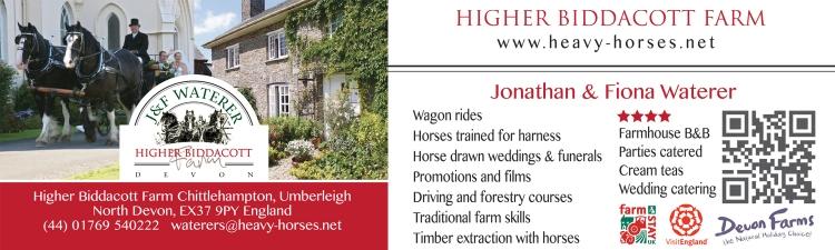 Contact us at Higher Biddacott Farm in North Devon.