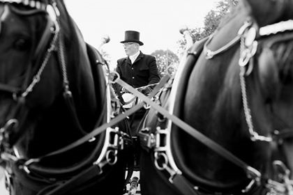 Enjoy a smooth service on your wedding with Higher Biddacotts Horse Drawn Carriages.